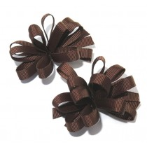 Korker Flower Clips Brown