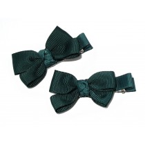 Small Grosgrain Bows Green
