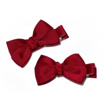 Small Grosgrain Bows Maroon