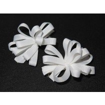 Korker Flower Clips White