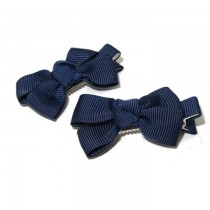 Small Grosgrain Bows N Blue