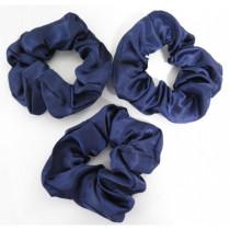 Scrunchie 3 Pack Navy Blue
