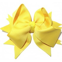 XL Grosgrain Bow Clip Yellow