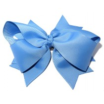 XL Grosgrain Bow Clip Sky Blue