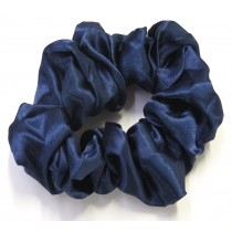 School Scrunchie Navy Blue Large