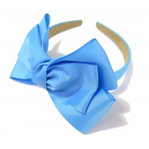 New York Bow Headband Sky Blue
