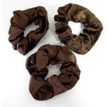 Scrunchie 3 Pack Brown