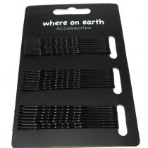 Bobby Pin Card Black