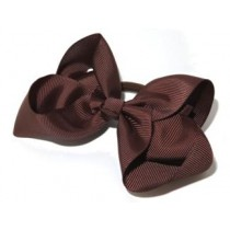 Large Grosgrain Bow Tie Brown