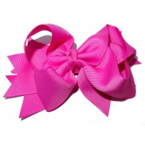 XL Grosgrain Bow Clip Pinks