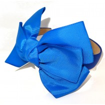 New York Bow Headband Royal Blue