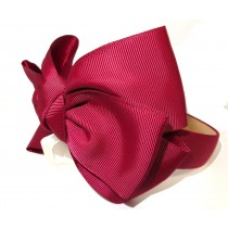 New York Bow Headband Maroon