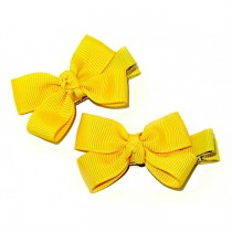 Small Grosgrain Bows Yellow
