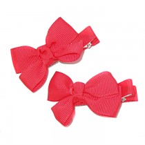 Small Grosgrain Bows Red