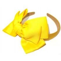 New York Bow Headband Yellow