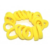 Mini Soft Tie Yellow 20 pack