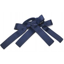 Pony Bows Navy Blue