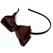 Grosgrain Bow HB Brown
