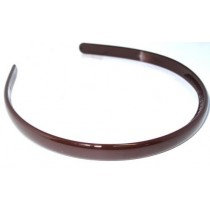 School Hairband 1cm Brown