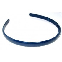 School Hairband 1cm Navy Blue