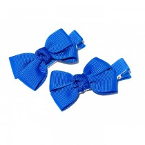 Small Grosgrain Bows R Blue